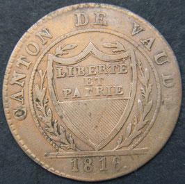 Canton de Vaud 1 Batzen (10 Rappen) 1816
