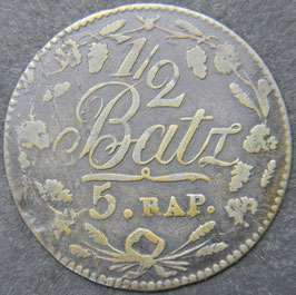 Canton de Vaud ½ Batzen (5 Rappen) 1816