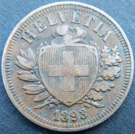 2 Rp. 1893 Schweiz