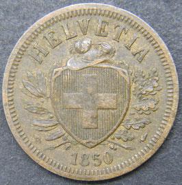 2 Rp. 1850 Schweiz