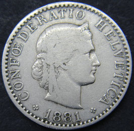 20 Rp. 1881 Schweiz