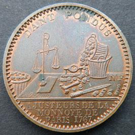 MONNAIE DE PARIS Administration des Monnaies et Médailles 1767