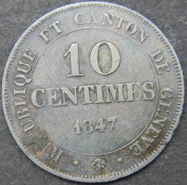 Genève 10 Centimes 1847