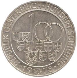 Österreich 100 Schilling 1978 Arlberg