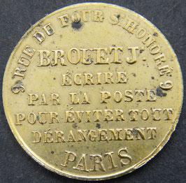 Papeterie Brouet jeune 9, rue du four saint Honoré à Paris