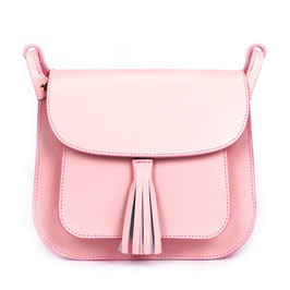 Rosa Tasche mit Tassel