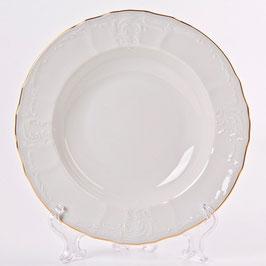 Набор глубоких тарелок Bernadotte ЗОЛОТОЙ ОБОДОК 23 см