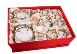 Немецкий чайный сервиз  Weimar РОЗА ЗОЛОТАЯ на 6 персон 21предмет ( артикул МН 45184 В )