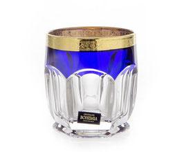 Набор стаканов для виски CАФАРИ Синие Bohemia Crystal  250 мл
