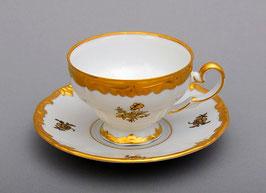 Набор для кофе мокко Weimar РОЗА ЗОЛОТАЯ на 6 персон 12 предметов ( артикул МН 30172 В )