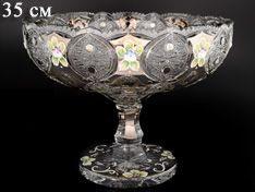 ХРУСТАЛЬ С ПЛАТИНОЙ ваза для фруктов 35 см
