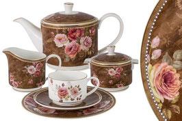 Чайный сервиз Emily АНГЛИЙСКАЯ РОЗА на 6 персон 21 предмет