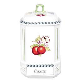 Банка для хранения сыпучих продуктов Leander  ФРУКТЫ  сахар 20 см