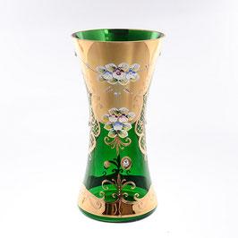 Ваза для цветов Bohemia Crystal ЛЕПКА СМАЛЬТА ЗЕЛЕНАЯ 30 см