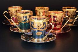 Набор для чая VENEZIANO COLOR на 6 персон 12 предметов