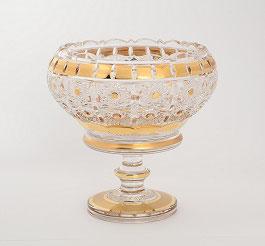Хрустальная ваза для конфет Max Crystal ЗОЛОТО 20 см