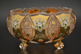 ХРУСТАЛЬ С ЗОЛОТОМ ваза для конфет 25 см
