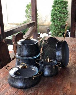 Набор для кухни Brioni Kitchenware БРИОНИ БЛЭК 9 предметов