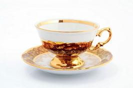 Набор для чая Sterne Porcelan ЛИСТ КРАСНЫЙ на 6 персон 12 предметов
