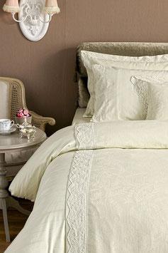Постельное Белье VALERON SATIN JACQUARD 2 спальное BARCLAY Светло-Оливковый