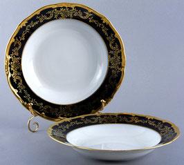 Набор глубоких тарелок Weimar ЮВЕЛ СИНИЙ 24 см ( артикул МН 391 В )