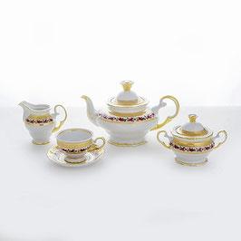 Чайный сервиз Moritz Zdekalier МЕЛКАЯ РОЗА на 6 персон 15 предметов