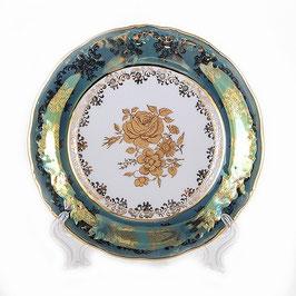 Набор закусочных тарелок Carlsbad РОЗА ЗОЛОТАЯ ЗЕЛЕНАЯ 19 см