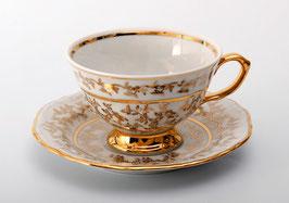 Набор для чая  Bavaria ЛИСТ БЕЛЫЙ на 6 персон 12 предметов