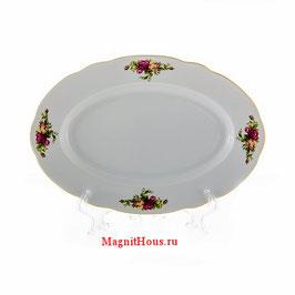 Блюдо овальное РОЗА  Thun 24 см