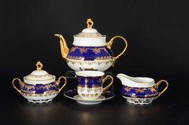 Чайный сервиз КОНСТАНЦИЯ РОЗА ЗОЛОТАЯ  Thun на 6 персон 15 предметов