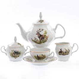 Чайный сервиз ОХОТА Bernadotte на 6 персон 15 предметов