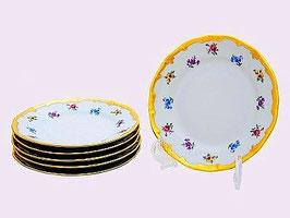 Набор закусочных тарелок Weimar МЕЙСЕНСКИЙ ЦВЕТОК 19 см ( артикул МН 268 В )