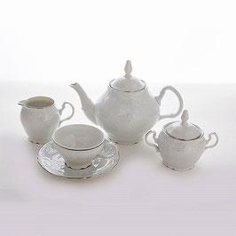 Чайный сервиз Bernadotte Платиновый Ободок на 6 персон 15 предметов