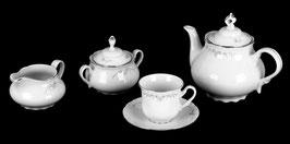 Чешский чайный сервиз КОНСТАНЦИЯ УЗОР  Thun на 6 персон 15 предметов