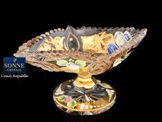 ХРУСТАЛЬ С ЗОЛОТОМ ваза для конфет 15 см