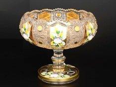 ХРУСТАЛЬ С ЗОЛОТОМ ваза для конфет овальная 15 см