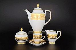 Кофейный сервиз Falkenporzellan IMPERIAL CREM GOLD на 6 персон 15 предметов