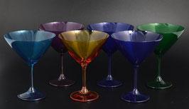 Набор бокалов для мартини  КЛАРА КАЛОРС Bohemia Crystal 280 мл