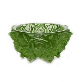 Ваза для конфет  ФРОСТ РОЗЫ ЗЕЛЕНЫЕ Bohemia Crystal 16,5 см