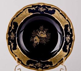 Набор глубоких тарелок Weimar КЛЕНОВЫЙ ЛИСТ СИНИЙ 24 см ( артикул МН 4339 В )