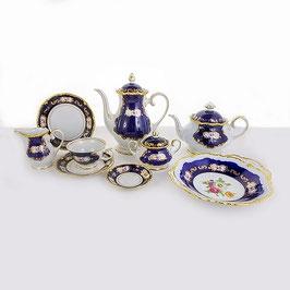 Чайный сервиз Reichenbach МЕЙСЕНОВКИЙ БУКЕТ КОБАЛЬТ на 6 персон 29 предметов