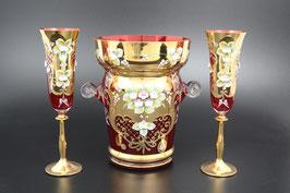 Набор для шампанского ЛЕПКА СМАЛЬТА КРАСНАЯ 7 предметов