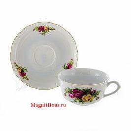 Набор для чая  РОЗА  Thun на 6 персон 12 предметов