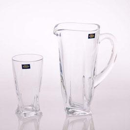 Набор для воды КВАДРО Прозрачный  Bohemia Crystal 3 предмета
