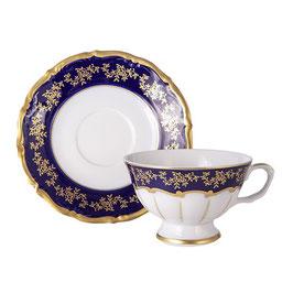 Набор для чая МАРИЯ ТЕРЕЗА СИНЯЯ Bavarian Porcelain  на 6 персон 12 предметов