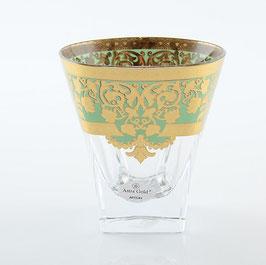 Набор стаканов для виски Astra Gold NATALIA GOLDEN TURQUOISE DECOR 270 мл