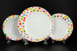Набор тарелок для сервировки стола THUN FUTURE ФЕЛЛИНИ 18 штук