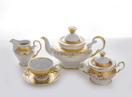 Чайный сервиз ЗОЛОТАЯ РОСПИСЬ Moritz Zdekalier на 6 персон 15 предметов