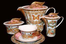 Немецкий чайный сервиз Rosenthal ЛЕ ЖАРДИН на 6 персон ( артикул МН 1814 В )