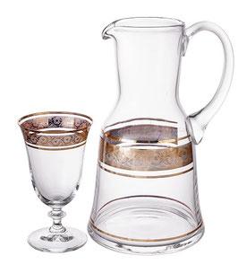 Набор для воды КЛАУДИЯ ЗОЛОТО Bohemia Crystal 7 предметов